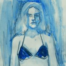 Bikini. 16 x 18. aguada y grafito