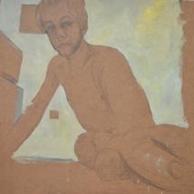 Cepe. 120x 114. dibujo grafito y pintura al óleo