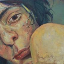 El hombro de Rita. 100 x 95. pintura al óleo
